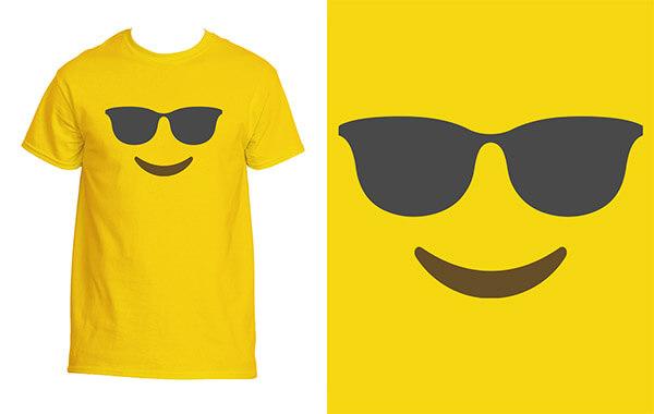 Comic Sonnenbrille Und Shirts Tshirt Herren T Shirt Emoji